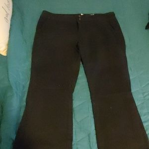 Juniors black flares. Good for uniforms